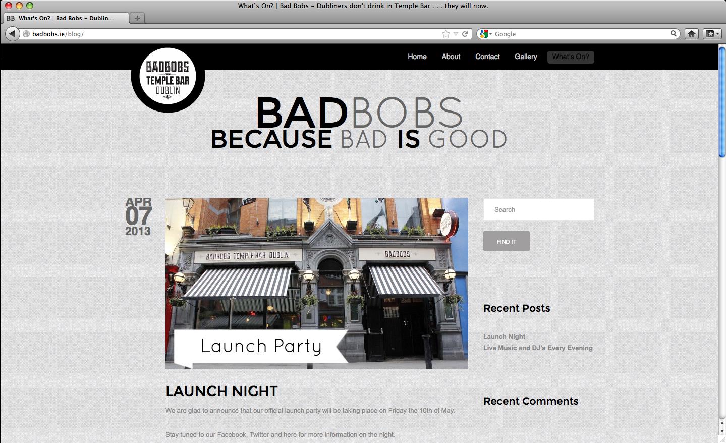 Blog Post: Launch Night